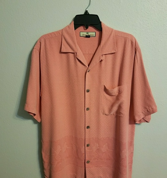 3d0f6514 Tommy Bahama Shirts | Salmon Pink Hawaiian Sz S Y0326 | Poshmark